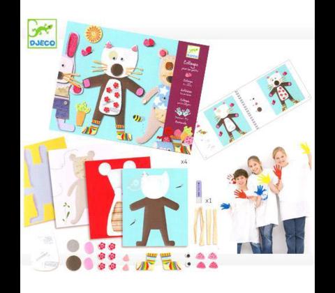 Набор для творчества Аппликация для малышей,  Djeco