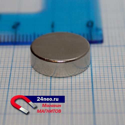 Неодимовый магнит диск 15х5 мм