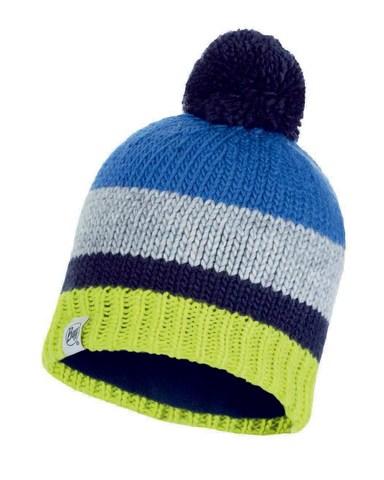 Вязаная шапка с флисовой подкладкой детская Buff Hat Knitted Polar Knut Cape Blue