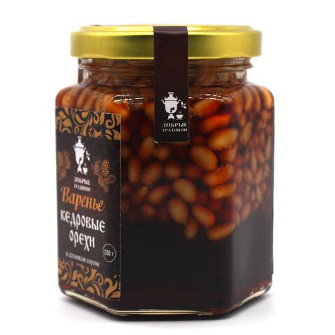 """Варенье """"Кедровые орехи в сосновом сиропе"""" Добрые традиции, 250 г"""