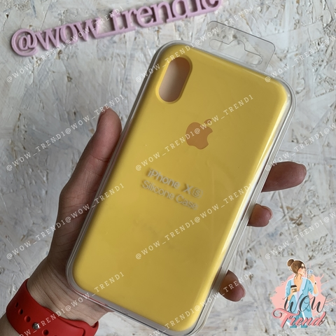 Чехол iPhone X/XS Silicone Case /canary yellow/ канареечный 1:1