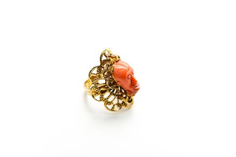 Восхитительное кольцо с африканским лицом от Selro