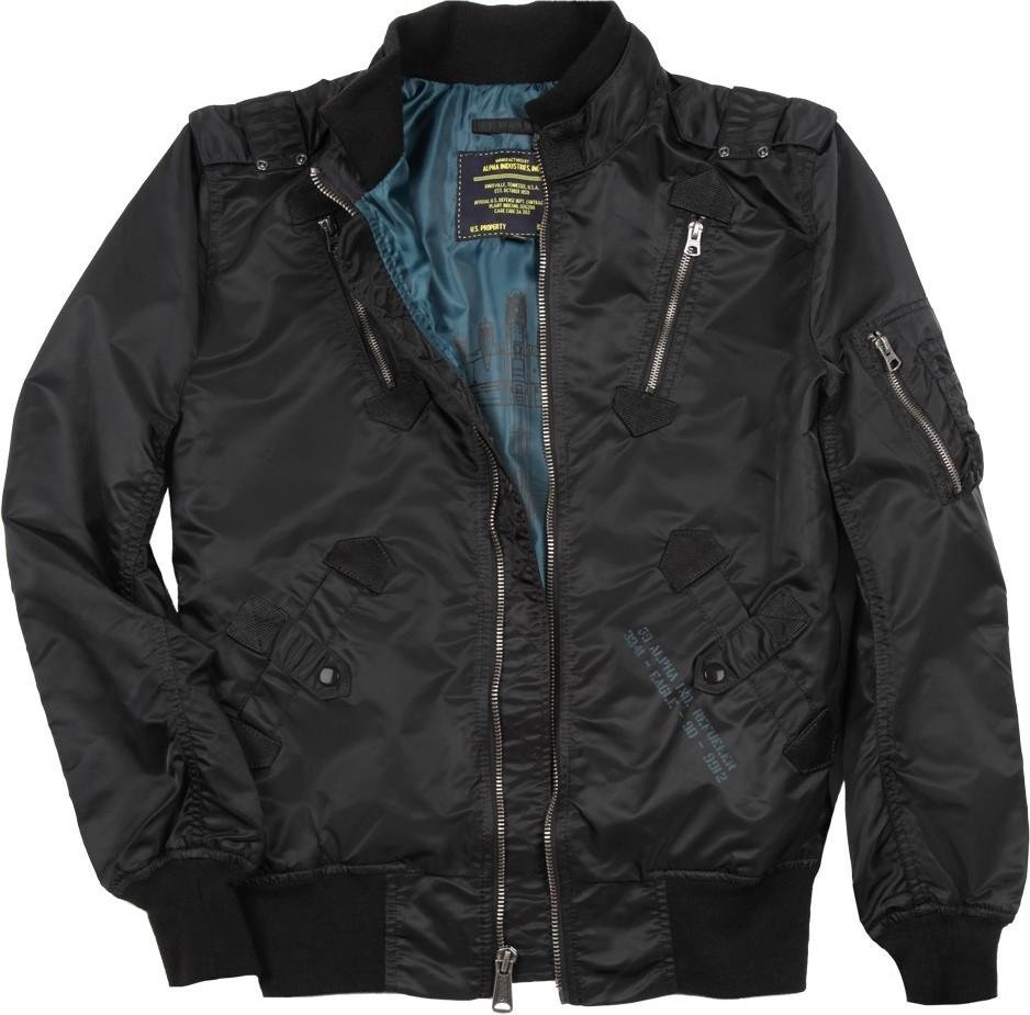 Куртка Бомбер - Refueler Alpha (черная - black)