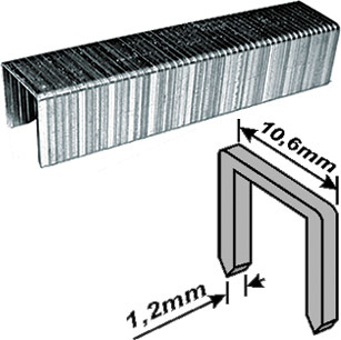 Скобы для степлера закалённые прямоугольные 10,6 мм х 1,2 мм (широкие тип 140) 14 мм, 500 шт. FIT 31214