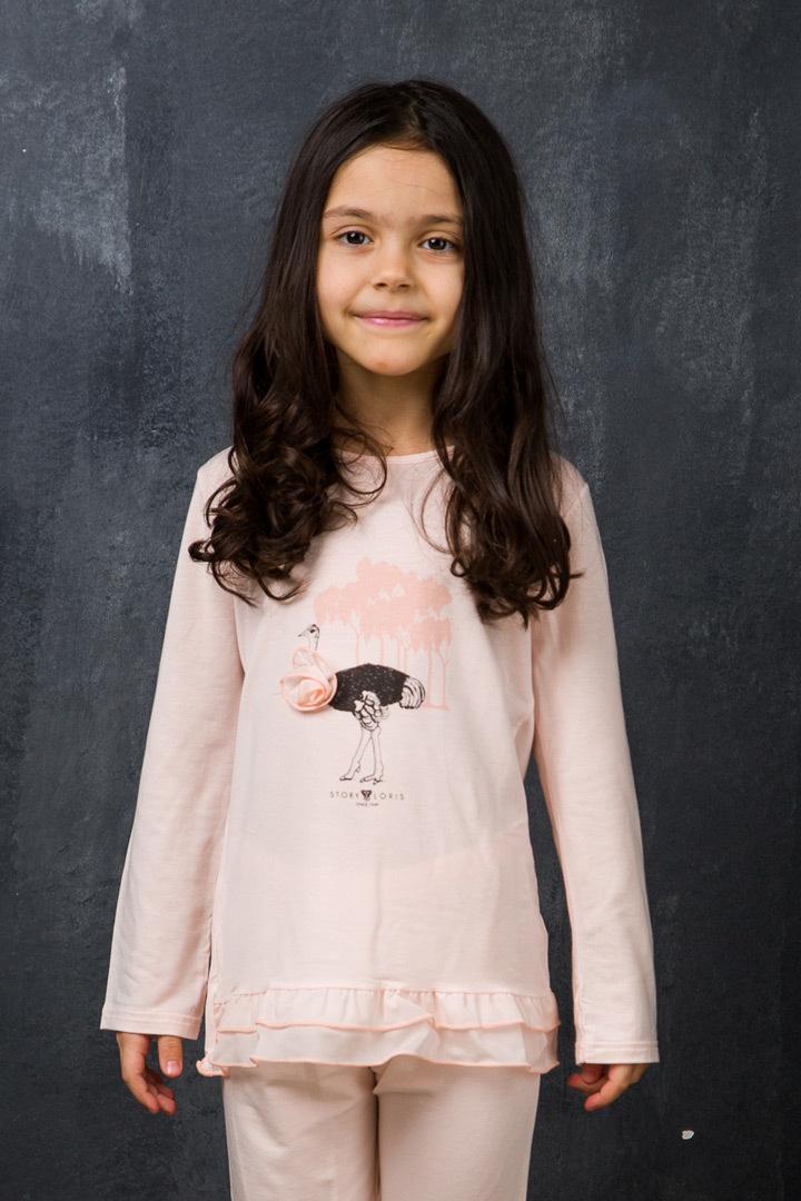Персиковая пижама для девочек Story Loris (Для девочек)