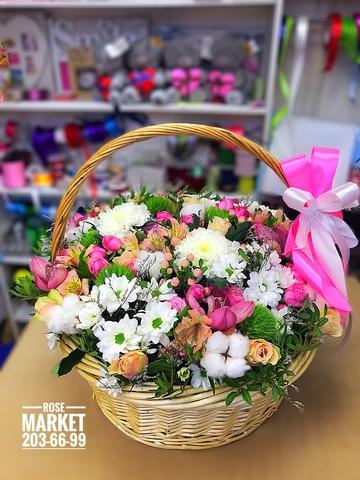 Цветы в корзинке #16391