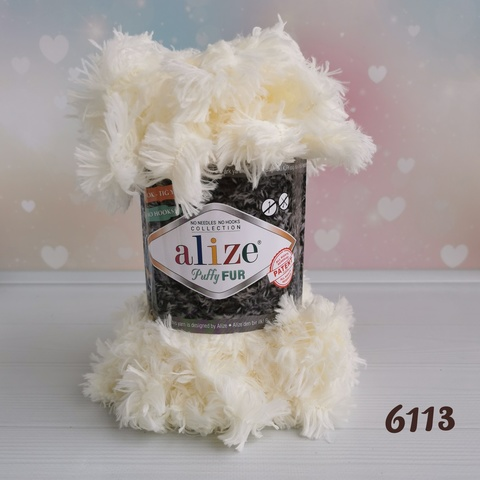 ALIZE PUFFY FUR 6113, Молочный