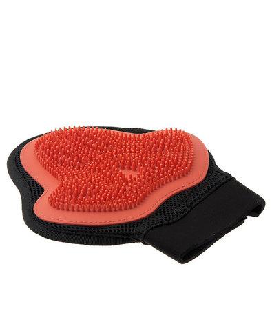 Hello PET рукавица силиконовая на руку малая (красная)