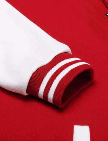 Красный бомбер фото рукав