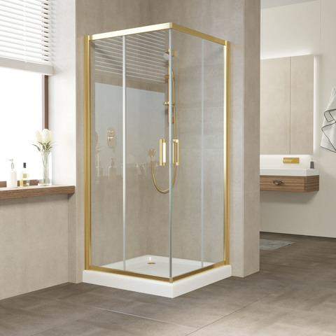 Душевой уголок Vegas Glass ZA профиль золото, стекло прозрачное