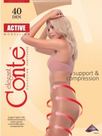 Conte Active Колготки женские 40d, p.6 natural