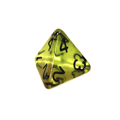 Куб D4 прозрачный: Зеленая скверна