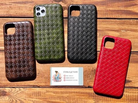 Чехол iPhone XR Leather Bottega case