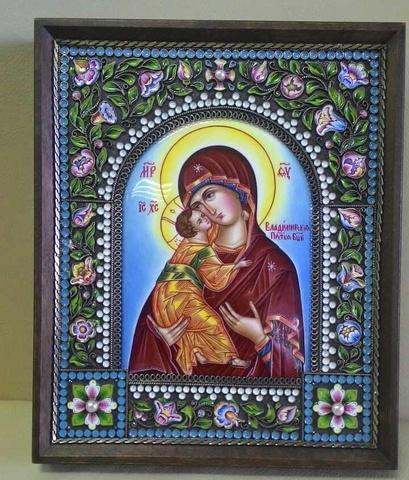 Икона Пресвятой Богородицы  Владимирская (17х19)