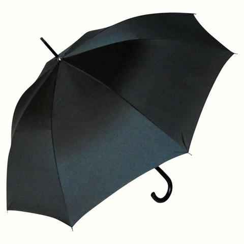 Черный зонт с ручкой крюк
