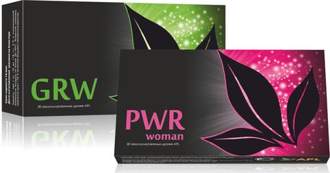 APL. Набор Аккумулированные драже APLGO GRW+PWR woman для женского здоровья, сохранения молодости и красоты