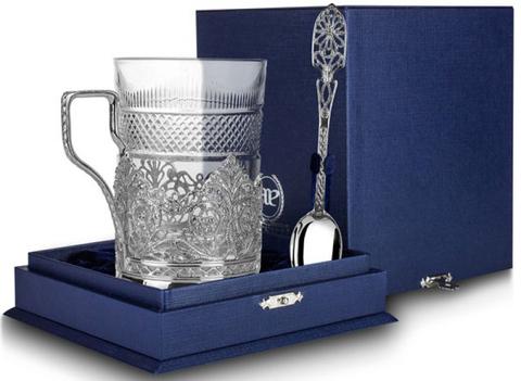 Cеребряный набор для чая «Скань»
