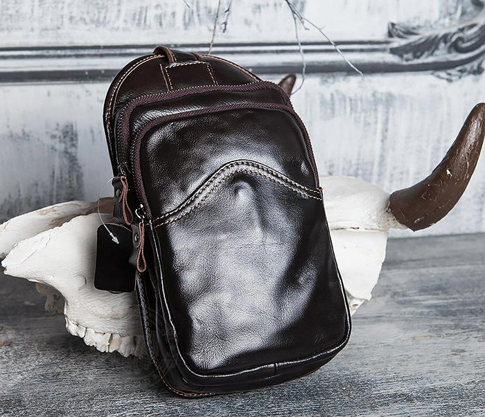 BAG420-2 Крутая мужская сумка из кожи с одной лямкой