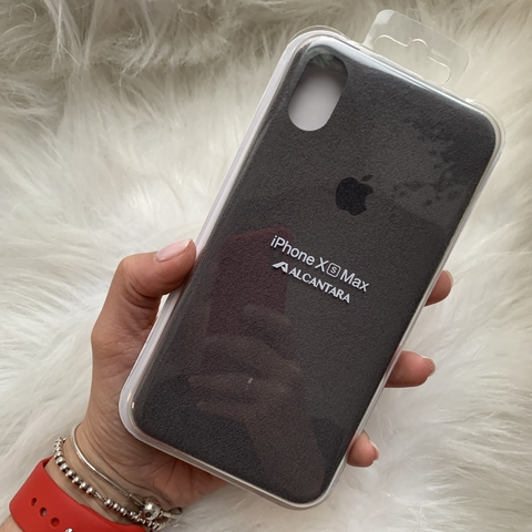 Чехол iPhone  XS Max Alcantara case /gray/