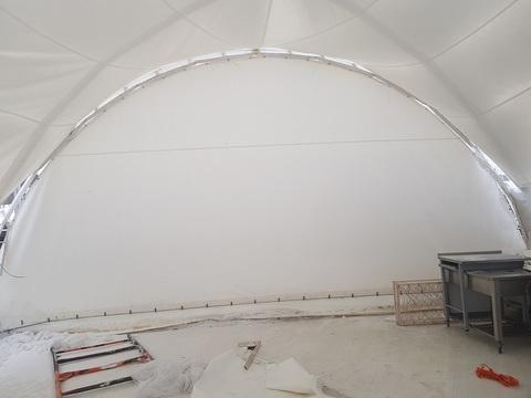 Стенка для шатра сплошная белая 10х10