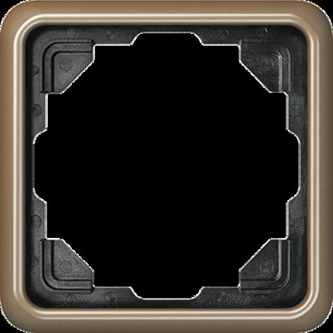 Рамка на 1 пост. Цвет Золотая бронза. JUNG CD 500. CD581GB