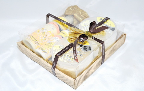 Набор подарочный №8 ЦИТРУС-МИКС (пенка200мл, молочко100мл, мусс280 мл, скрабби200мл)/ТМ Chocolatte