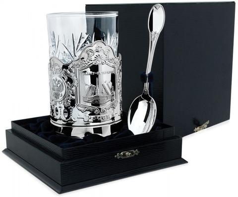Серебряный набор для чая «Санкт-Петербург» из 3 предметов