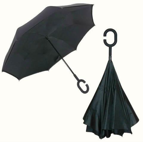 Купить онлайн Обратный зонт ReU Black (арт.RU-1) в магазине Зонтофф.