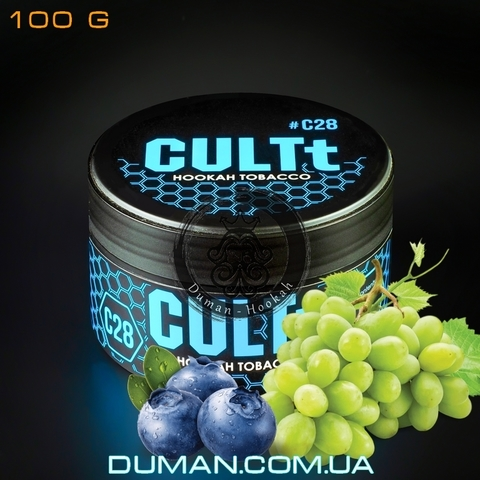 Табак CULTt C28 Blueberry Grapes (Культ Черника Виноград Лёд)