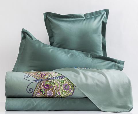 Постельное белье 2 спальное евро Mirabello Mariposa зеленое