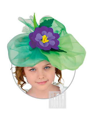 Фото Цветочная шляпка / Фиалка рисунок Весенние персонажи