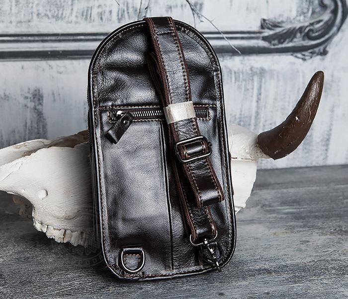 BAG420-2 Крутая мужская сумка из кожи с одной лямкой фото 04