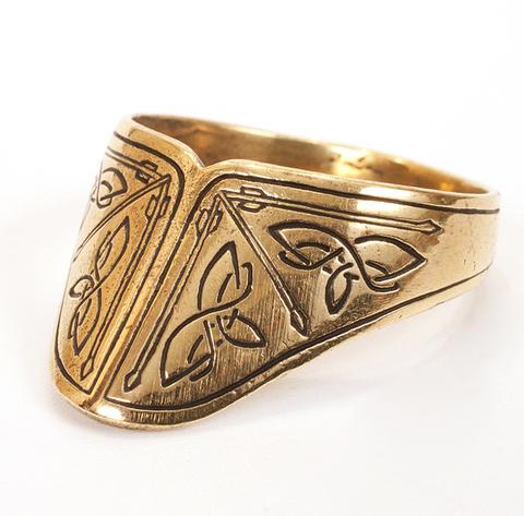 Бронзовое кольцо лучника для большого пальца RH00619