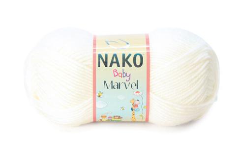 Пряжа Nako Baby Marvel белый 208