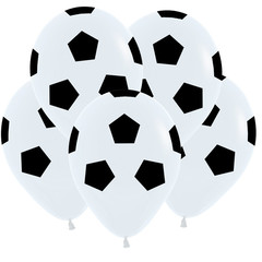 S 12 Футбольный мяч, Белый Пастель /50шт./