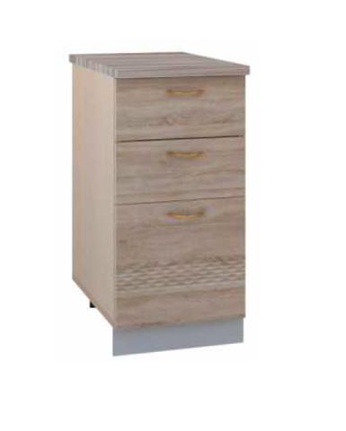 Стол кухонный ТОСКАНА 400мм с тремя ящиками