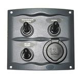 Панель переключателей (3 шт) с гнездом прикуривателя