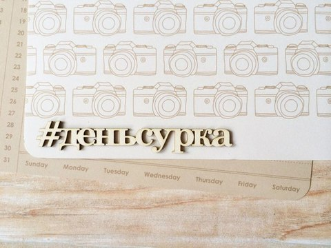 Чипборд  для Project Life - #деньсурка