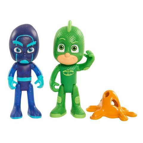 Набор из 2 фигурок Гекко (Gecko) и Ниндзялино (Night Ninja) - Герои в Масках,  PJ Masks