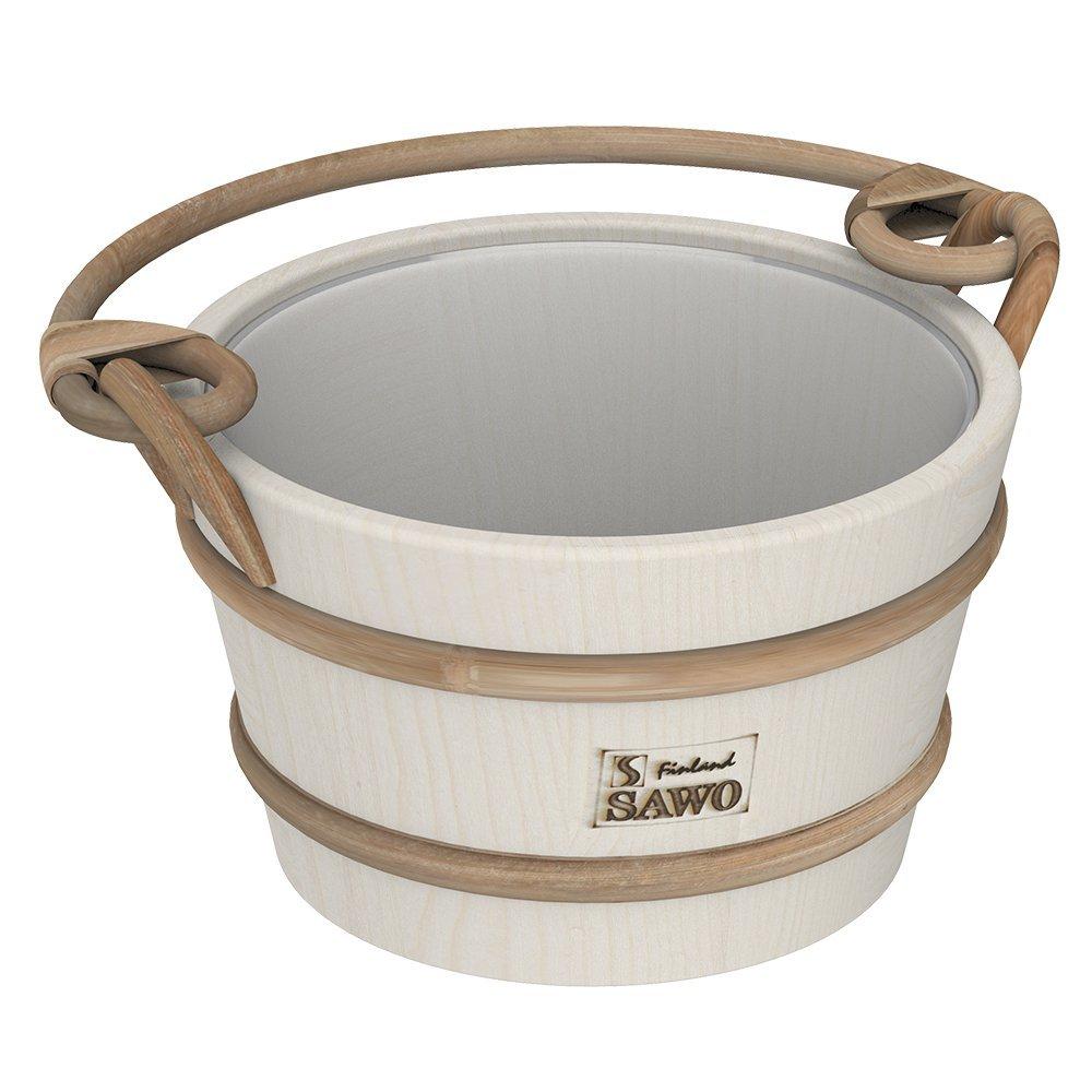 Ведра и кадушки: Ведро деревянное SAWO 341-A (4 литра, с пластиковой вставкой) подголовник sawo 510 a