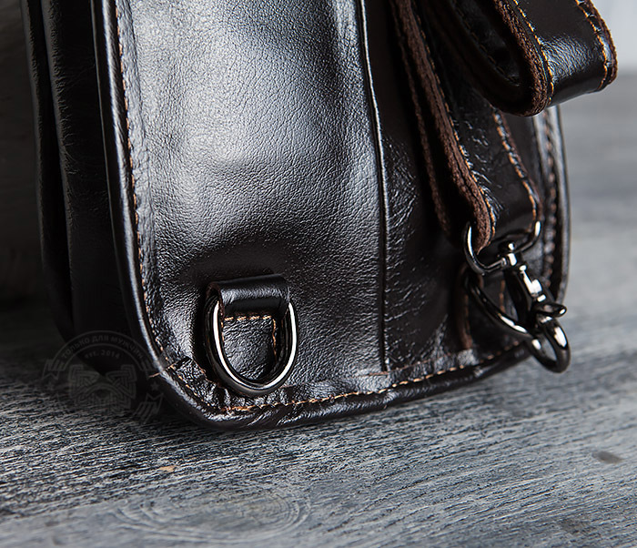 BAG420-2 Крутая мужская сумка из кожи с одной лямкой фото 05