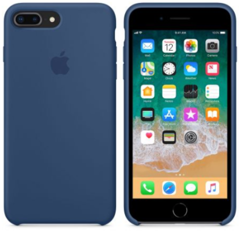 iPhone 7Plus/8Plus Silicone Case Navy Blue