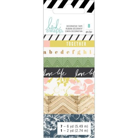 Набор скотчей - Heidi Swapp Emerson Lane Washi Tape Rolls -8 шт.