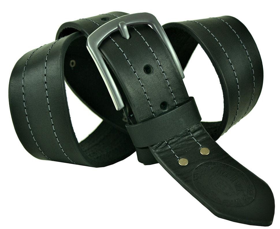Мужской кожаный чёрный ремень 45Millen-092