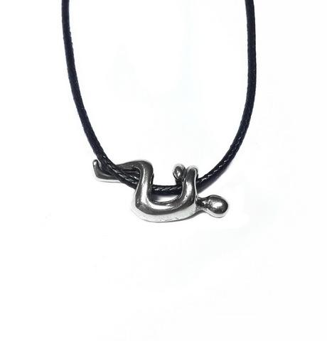 Hug pendant, Sterling silver