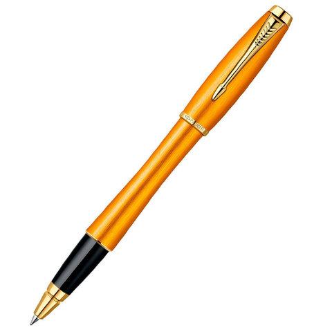 Купить Ручка-роллер PARKER URBAN Premium Mandarin, цвет: Yellow GT, цвет стержня: черный, 1892653 по доступной цене