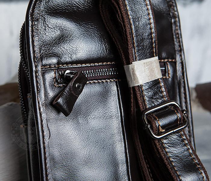 BAG420-2 Крутая мужская сумка из кожи с одной лямкой фото 06