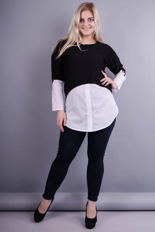 Аніка. Гарна кофтинка великих розмірів для жінок. Білий.
