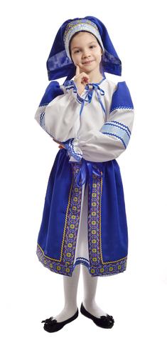 Костюм Народный с синей поневой 1