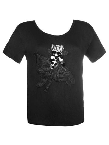 581-3 футболка женская, черная
